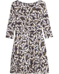 Suno Floral 34 Sleeve Flared Dress - Lyst
