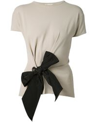 Lanvin Bow Detail T-Shirt - Lyst