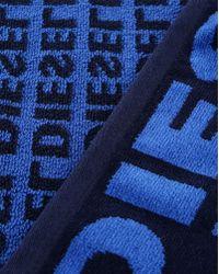 DIESEL   Blue Helleri Logo Bath Towel   Lyst