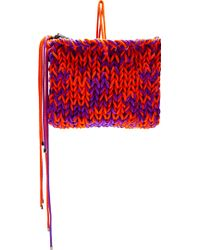 Roksanda Ilincic Purple and Orange Knit Wool Clutch - Lyst