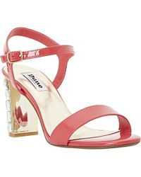 Dune Maia Jewelled Block-Heeled Sandals - Lyst