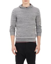 Theory Mélange Knit Pullover Hoodie - Lyst