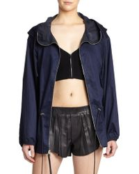 Rag & Bone Garrison Hooded Cotton Jacket blue - Lyst