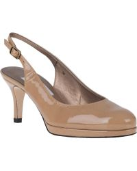 Vaneli For Jildor Faby Slingback Pump Nude Patent - Lyst