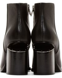 Alexander Wang Black Notched Heel Gabi Ankle Boots - Lyst