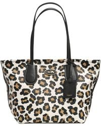 Coach Taxi Zip Panther Tote - Lyst