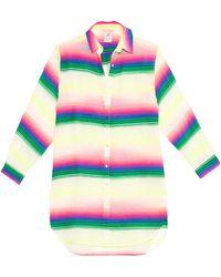 Mara Hoffman Rainbow Striped Gauze Shirt Cover-Up multicolor - Lyst