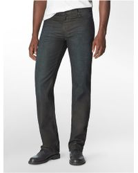 Calvin Klein Slim Straight Leg Modern Antique Dark Wash Jeans - Lyst