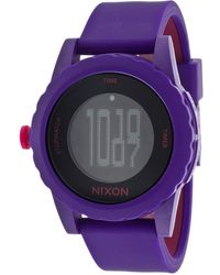 Nixon Womens Genie Purple and Pink Silicone Black Dial - Lyst