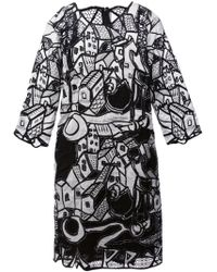 Tsumori Chisato Black Embroidered Dress - Lyst
