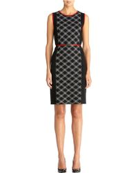 Jones New York Crew Neck Sheath Dress - Lyst