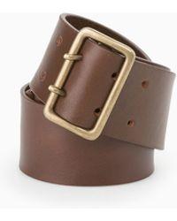 Mango Wide Leather Belt - Lyst