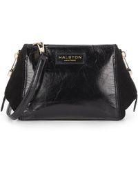 Halston Heritage | Glazed Leather & Suede Mini Crossbody | Lyst