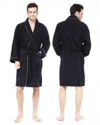 Paul Smith Stripe Trim Dressing Gown - Lyst