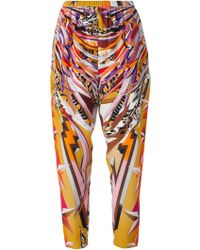 Emilio Pucci Signature Print Tapered Trousers - Lyst