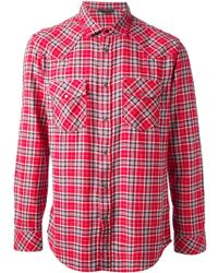 Diesel Checked Shirt - Lyst