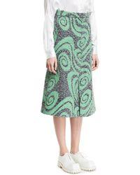 Acne Studios Kier Tweed Mint Green Spiral - Lyst