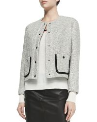 Rag & Bone Cannon Tweed Snap-front Jacket - Lyst