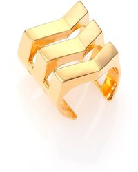Tomtom - Chevron Prix Negative Space Ring - Lyst