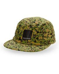 Wesc Gravel Print Baseball Cap green - Lyst