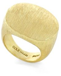 Cole Haan - Brushed Metal Ring - Brushed Gold - Lyst