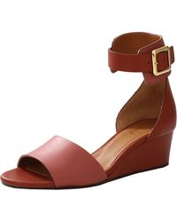 Chloé Demi Wedge red - Lyst