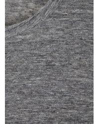 T By Alexander Wang - Grey Linen Jersey Top - Lyst