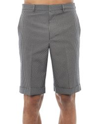 Balenciaga Seersucker Tailored Shorts - Lyst