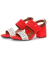 Thakoon Addition - Chloe Poppy Suede Stripe Sandals - Lyst