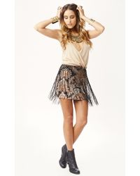 Novella Royale Be Free Fringe Mini Skirt - Lyst