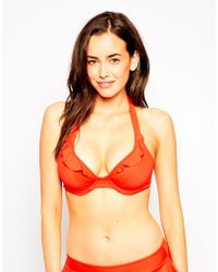 Freya In The Mix Underwired Banded Halter Bikini Top  - Lyst