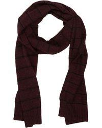 Barneys New York Stripe Knit Scarf - Lyst