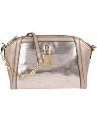 Furla Silver Handbag - Lyst