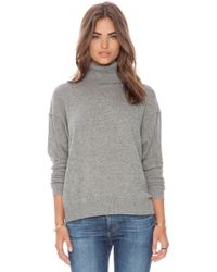 Autumn Cashmere Boxy Turtleneck Sweater - Lyst