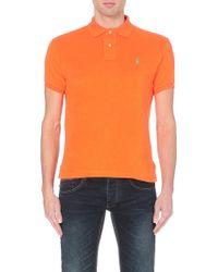 Ralph Lauren Custom-fit Towelling Polo Shirt - For Men - Lyst