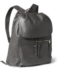 Balenciaga Creased-Leather Backpack - Lyst