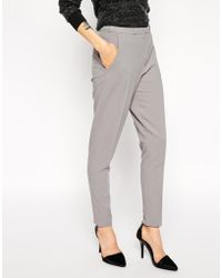 Asos Cigarette Trousers in Crepe - Lyst
