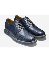Cole Haan Original Grand Long Wingtip blue - Lyst