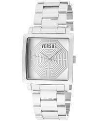 Versus  Womens Dazzle Whitesilver Dial Stainless Steel - Lyst
