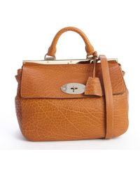 Mulberry Ginger Embossed Leather Suffolk Small Crossbody Bag - Lyst