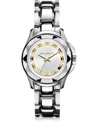 Karl Lagerfeld | Icon Unisex Stainless Steel Watch | Lyst