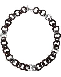 John Hardy Rosewood & Silver Link Necklace - Lyst