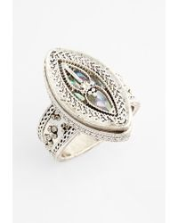 Topshop Etched Mystical Ring - Lyst