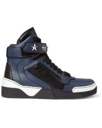 Givenchy Tyson High Top Leather Sneakers with Stars - Lyst