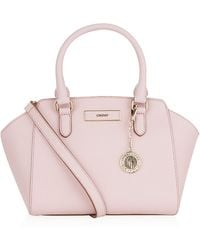 DKNY Saffiano Small Trapeze Bag - Lyst
