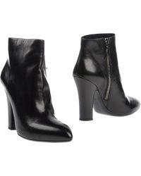 Miu Miu Black Ankle Boots - Lyst