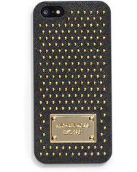 MICHAEL Michael Kors Leather Micro Stud Phone Case - Lyst