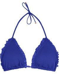 Reiss Pepita T Textured Bikini Top - Lyst