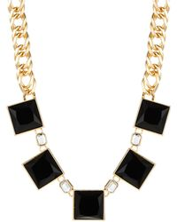 Kensie Square Stone Collar Necklace - Lyst