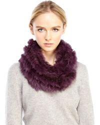 Love Token - Real Rabbit Fur Infinity Scarf - Lyst
